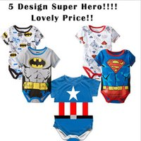 autumn drinks - 2015 spring summer cotton superman short sleeve baby rompers newborn infant clothes toddler boy clothes overalls Drink