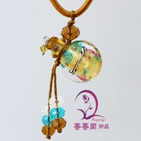 jewelry supply wholesale - Coloured glaze essence oil bottle pendant bottle pendant jewelry flower boutiques within the supply oblate
