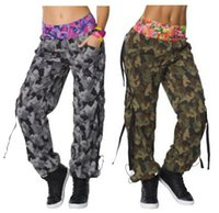 Wholesale S M L woman Fitness dance pants Mashed Up Cargo Pants woman long trouserse black grey colors