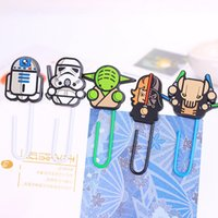 Wholesale New Style Star Wars Paper Clips Cartoon Flim Character Clips Files Paper Book Mark Bookmark Europe Trendy Children Toy Gifts