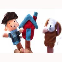 Wholesale SET World Nursery Rhyme Puppets BINGO Plush Finger Puppets Stuffed Dolls Cowboy Puppets For Kids Students Talking Props