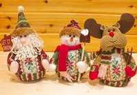 Wholesale 2015 Christmas Dolls Xmas Snowman Santa Deer Decorations Christmas Home Decorations Handmade Christmas Articles Xmas Dolls
