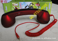 big retro headphones - Shenzhen factory direct fashion frosted cell phone radiation retro big headphones