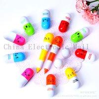 best rollerball pens - newest Cute Pill Shape Retractable BallPoint Pen Rollerball Pens Stationery Children best like Gifts pill ballpiont pen