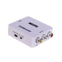 rca to hdmi converter - New Mini White HDMI to RCA Composite Video AV Converter for TV PC PS3 Blue ray DVD