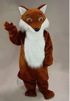 Wholesale HOT SALE Cute Fox Brown Nice animal Mascot Costume Fancy Dress Animal mascot costume