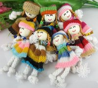 Wholesale Mixed Cute Pattern Dress Girl Small Doll For Appliques craft Sewing Decoration
