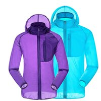 Cheap Camping & Hiking Skin Windbreaker Best Unisex Nylon Quick Drying Jackets