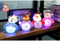 beautiful ornament - 2015 HOT Christmas Decoration Flashing LED Light Christmas Snowman Bear Deer XMAS Santa Claus Hanging Ornament Beautiful Gifts