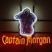 beer rum - Revolutionary Neon Super Bright NEW CAPTAIN MORGAN RUM PIRATE REAL GLASS Neon Beer Sign quot x15 quot Available multiple