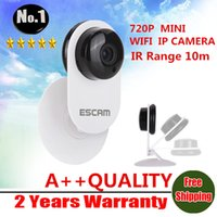 Wholesale ESCAM QF605 MINI Wireless IP Camera HD P Security P2P Cloud Surveillance camera H IR Range m mm Lens
