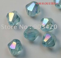 azure jewelry - China jewelry accessories OMH azure bicone glass crystal beads AB mm sj28