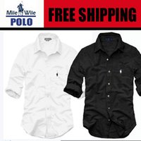 Wholesale New Fashion Slim Fit casual Dress shirt Men Long Sleeve Big size Oxford Man s Clothes men s shirts