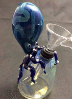 shark - 2015 Hand blown small bong Octopus glass bubbler scorpion shape bubbler shark bubbler octopus glass bong glass water pipe inch