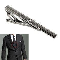 Wholesale New Simple Necktie Tie Clasp Clip Gentleman Metal Silver Tone Girl Fashion