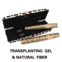 Wholesale 2 Piece Leopard Curling Eye Lashes Mascara Black Fiber Eyelash Mascara Set HB88