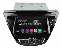 Wholesale 1024 Quad Core HD din quot Android Car PC Stereo Radio DVD for HYUNDAI Elantra With GPS G WIFI Bluetooth IPOD TV Car DVD