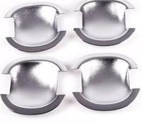 Wholesale Car door handle bowl cover door bowl cup trim fit for Qashqai Dualis abs chrome per set