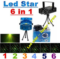Wholesale Mini in DJ Controller Par LED Projector Laser Stage Lighting Effect Disco DJ Xmas Ball Blue Laser Party Lights Luces Fiesta