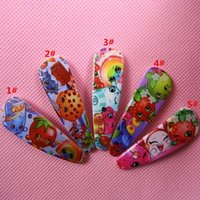 Barrettes Plastic Print DHL Ship Fruit shop family baby hairpin clips 5designs shopping world baby girls hairbands hair claws baby cartoon hair ornament hairclip