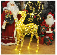 animated reindeer - Animated CM Lighted Reindeer Deer Family Christmas Yard Decoration Lights New