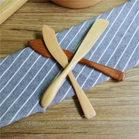 Wholesale Kitchen Woodworking Japanese Style and Wind Wood Mask Knife Butter Jam Butter Knife Natural Environmental Wooden Tableware