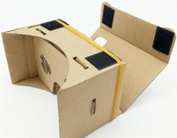 Wholesale New Arrive Google VR D Glasses DIY Google Cardboard Virtual Reality VR Mobile Phone D Viewing Glasses for quot Screen