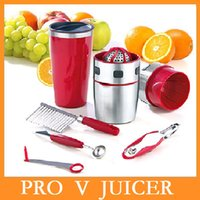 Wholesale High quality New Stainless Steel PRO V JUICER Juice Extractor Juice Machine Multi functional Juicer Manual Juicers Dropshipping