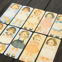 Wholesale 30pcs Book Markers Different Design Vintage Doll Girls Paper Bookmarks Set Cute Gifts Office School Stationery Tools Gift