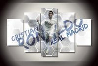 Wholesale 5 Panel No Framed Printed cristiano ronaldo Painting on canvas room decoration print poster picture canvas abstract paintings
