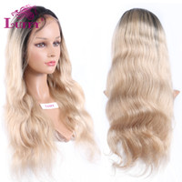 Cheap human blonde two tone lace wig Best two tone blonde human wigs