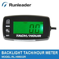 Wholesale Resettable Engine RPM Tachometer Hour meter Timer for Dune Buggy Outboard Motor Motocross marine chainsaw lawn mower
