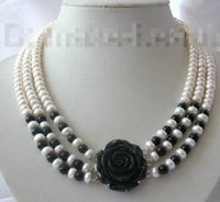 agate cultured pearls - gt gt gt stunning rows mm round white freshwater cultured pearl agate necklace
