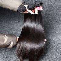Mongolian Hair weave bulk - Mongolian Hair Weave Straight Hair Weaves Mink Hair Remy Human Hair Weave Virgin Unprocessed Double Weft Hair Extensions In Bulk