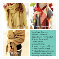 Wholesale Wool Winter Scarf Women Scarf Plaid Thick Brand Shawls and Scarves for Women