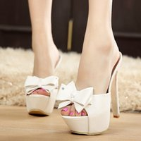 beaded sandles - Stock black white bow tie bridal wedding shoes hot sale ivory sandles cheap peep toe wedding shoes accessories