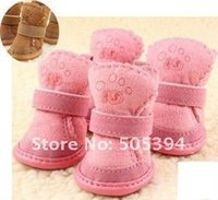 beautiful footwear - New Fashion Beautiful snow boots pet dog shoes footwear