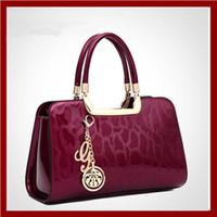 handbags usa - USA style women shoulder bag women handbag crossbody Bags Genuine patent leather pendant tote women messenger bag Clutches