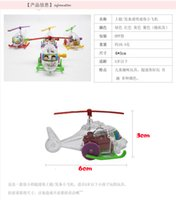 Wholesale Hot cute mini helicopter baby on the chain clockwork transparent transparent ultra mini airplane children s toys
