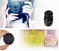 Wholesale 1 X New mm Front Lens Cap Hood Cover Snap on With Cord For Nikon Canon Pentax
