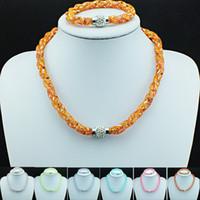 Ensembles de bijoux à la nouvelle arrivée Tricot en cristal rempli Infinity Magnetic Clasp Link Bracelets Ensembles de collier Bijoux de luxe bricolage