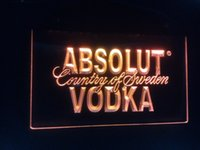 Wholesale jb Absolut Vodka Country of Sweden Beer LED Neon Bar Sign