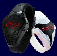 Wholesale 2015 New men male sport led watch Triangle Dial snake head Cobra women Men s Wristwatch Silicone Rubber Creative digital Watches