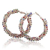 Wholesale Fashion New Hoop Earring Earrings For Women Big Earrings Anniversary Jewelry Personal Luxurious Yiwu Made Crystal Earring Christmas Gift