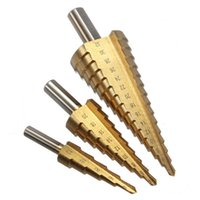 Wholesale 4 mm The Pagoda Shape HSS Triangle Shank Pagoda Metal Steel Step Drill Bit Hole Cutter Cut Tool A Single Pack