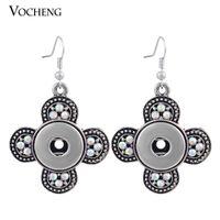 Wholesale VOCHENG NOOSA Interchangeable mm Popper Dangle Earring Vintage Snap Jewelry NN