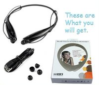 Wholesale HBS Wireless Sport Bluetooth Stereo Headset Neckband Earphone Handfree for IPhone s s c LG Samsung htc with Retail package