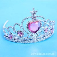 Wholesale Girls Frozen rhinestone headband Styling Tools Crown Hair Accessories Kids Party Jewelry Hairstyles Accessories Color Fashion Tiara