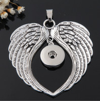 Wholesale G00106 newest angel wing snap button jewelry pendant for mm button