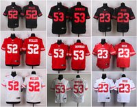 black 49ers jersey - NEW Patrick Willis NaVorro Bowman Reggie Bush ers Jerseys Cheap discount football jerseys Custom Limited Elite Game Embroidery